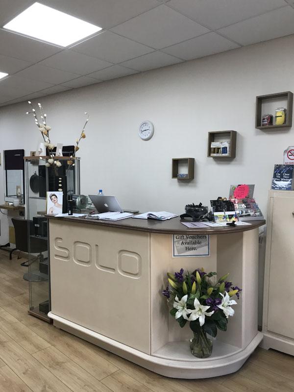 front desk inside solo hairdressing