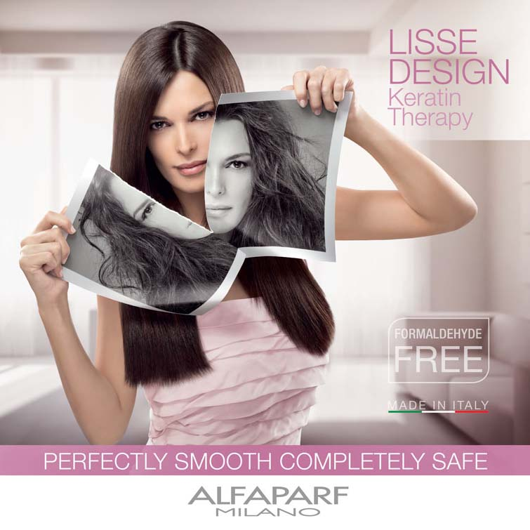 isse design hair smoothing system advert